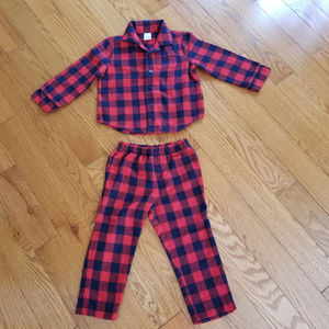 Baby Gap Plaid Flannel pj's